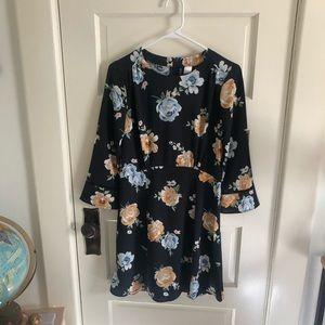 H&M floral crepe dress